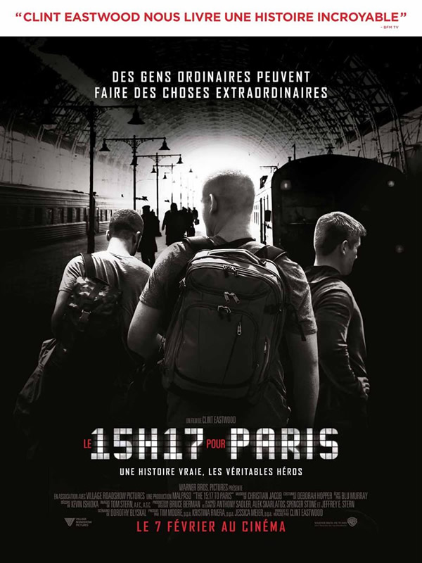affiche LE 15:17 POUR PARIS Clint Eastwood