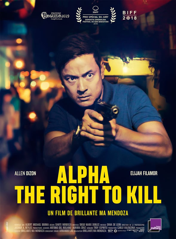 affiche ALPHA - THE RIGHT TO KILL Brillante Mendoza