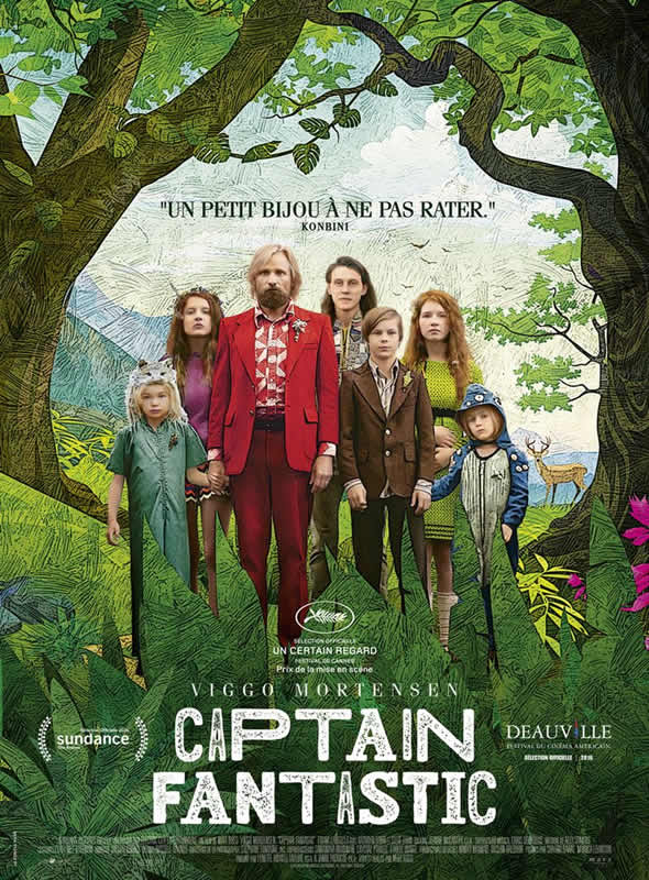 affiche CAPTAIN FANTASTIC Matt Ross