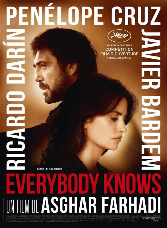 affiche EVERYBODY KNOWS Asghar Farhadi