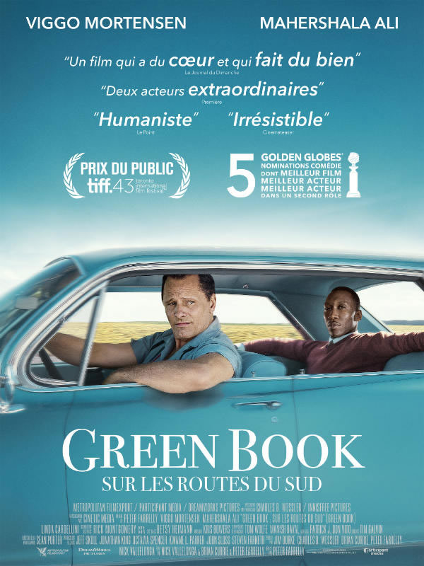 affiche GREEN BOOK : SUR LES ROUTES DUSUD Peter Farrelly