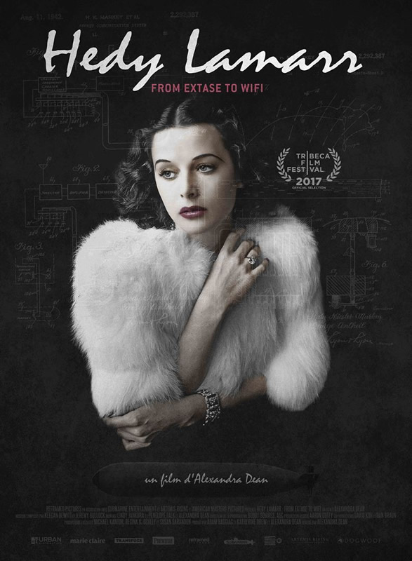 affiche HEDY LAMARR : FROM EXTASE TO WIFI Alexandra Dean