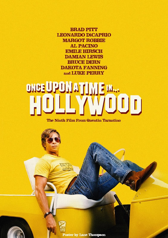 affiche ONCE UPON A TIME... IN HOLLYWOOD Quentin Tarantino