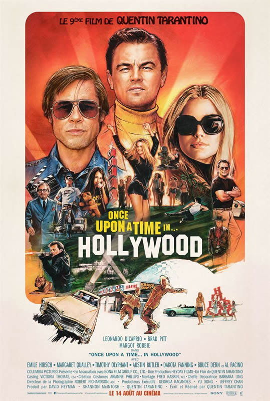 affiche ONCE UPON A TIME IN... HOLLYWOOD Quentin Tarantino