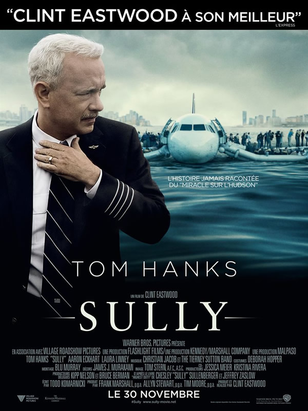 affiche SULLY Clint Eastwood