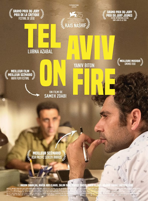 affiche TEL AVIV ON FIRE Sameh Zoabi