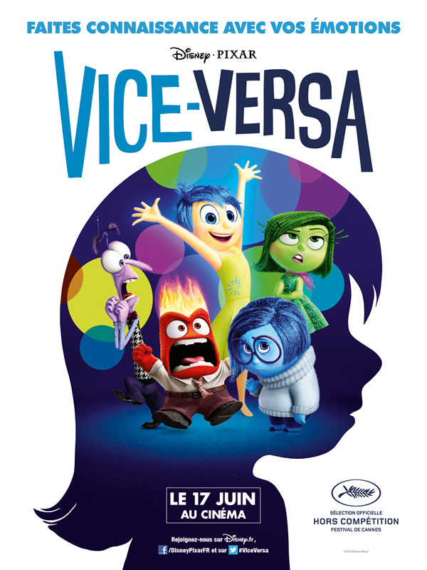 affiche VICE VERSA Pete Docter